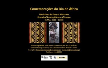 Workshop de Danças de ritmos africanos no âmbito do Dia de África de 2018